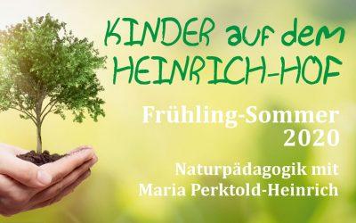 Kinder auf dem Heinrichhof – Programm Frühling/Sommer 2020